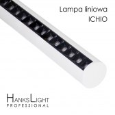 Lampa LED,HanksLight,liniowa,white, alu,zwiesz,1264mm,down36W, SMD,AC230V,4000K-W