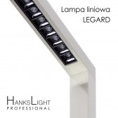 Lampa LED,HanksLight,stojąca,alu,1200*2146mm,up21W/down36W,4000K